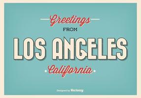 Ilustração de saudação retro de Los Angeles vetor