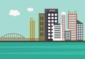 Pittsburgh Skyline no vetor