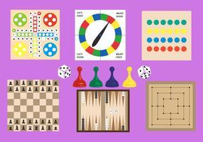 Coleção de jogos de tabuleiro alegres