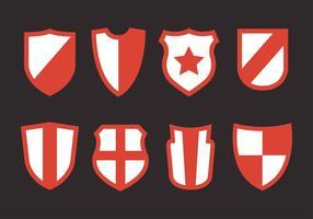 Conjunto de vetores de formas de escudo