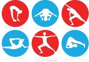 Ícones vetoriais do círculo de ginástica