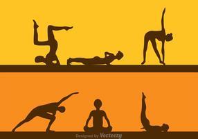 Menina de fitness vetorial em ginástica