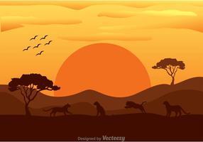 Tigre vetorial em África vetor