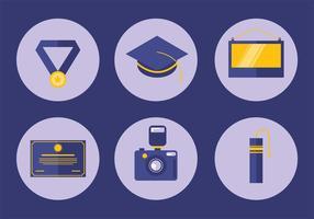 Conjunto de vetores de ícones de graduação