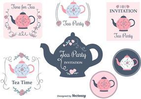 Cartões grátis do convite do tea party vetor