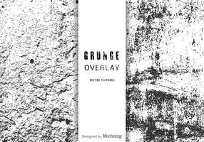 Conjunto de vetores de sobreposição de grunge livre