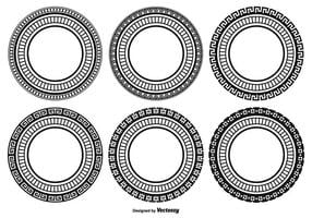 Conjunto de forma redonda decorativa