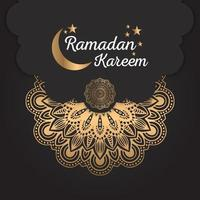 mandala abstrata ramadan kareem design vetor
