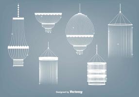 Conjunto de vetores de lustre de cristal