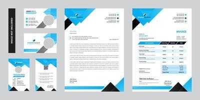 design de modelo de papelaria corporativa empresarial moderno vetor