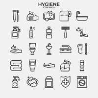 conjunto de pacote de ícones de higiene vetor