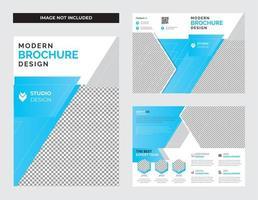 design de brochura bi-fold de negócios corporativos vetor