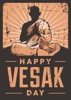 cartaz do dia do vesak vetor