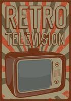 cartaz de televisão retrô vetor