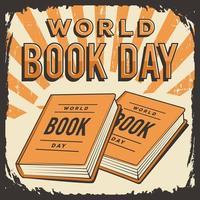 cartaz do dia mundial do livro vetor