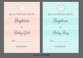 Convites do vetor do baptismo