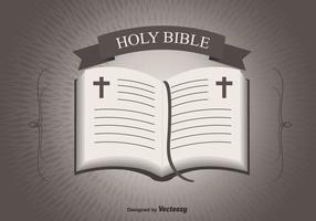 Abra o fundo da Bíblia vetor