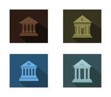 conjunto de ícones do banco vetor