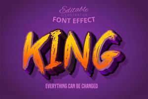 efeito de texto rei grunge vetor