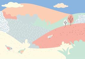 Ilustração da paisagem do vetor