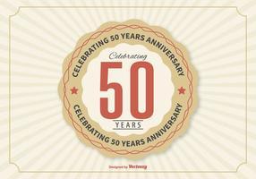 Ilustração do aniversário do 50º ano vetor