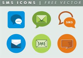 Ícones sms vetor livre