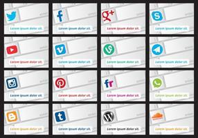 Vetores de teclado de mídia social