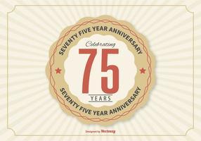 Ilustração de aniversário de 75 anos vetor