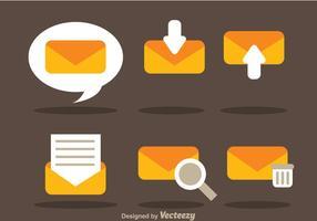Ícones planos do vetor SMS