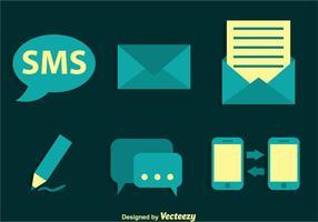 Ícones do vetor SMS