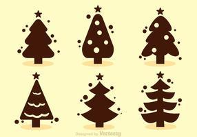 Vetores da silhueta da árvore de natal