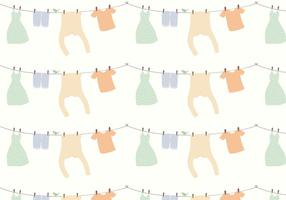 Fundo de padrões de roupas vetor