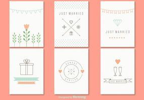 Cartão de casamento da mola vetor