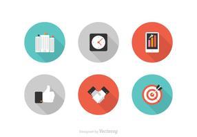 Conjunto de ícones de negócios de vetores grátis