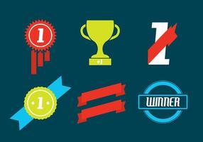 Conjunto de ícones de vetor de troféus e prêmios