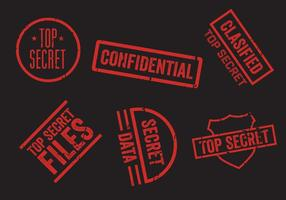 Conjunto de vetores de selos secretos