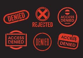 Conjunto de vetores de selo negado