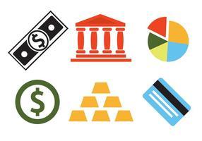 Conjunto de vetores de ícones do banco
