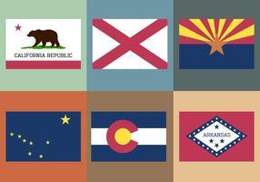 Coleção de bandeira vetor