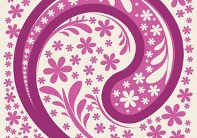 Vetor de fundo de paisley rosa