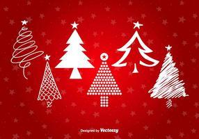 Árvore de Natal formas estilizadas vetor