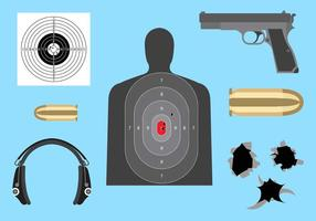 Coleção de diferentes elementos para tiroteio vetor