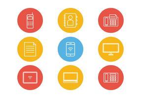 Vetores de ícones de comunicação de estrutura de tópicos