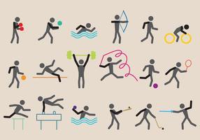 Vetores esportivos olímpicos