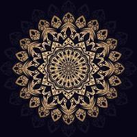 padrão de mandala de luxo com formas de estrela vetor