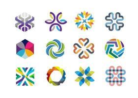 formas geométricas coloridas para identidade da empresa vetor