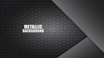 fundo de chapa de aço de alumínio com textura vetor