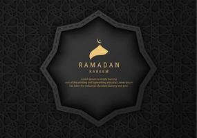 banner de ramadan kareem padrão preto vetor