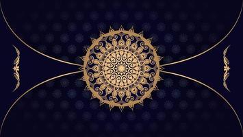 design de mandala de luxo horizontal vetor