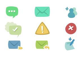 Conjunto de ícones de mensagens vetor